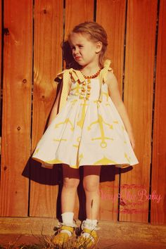 Nautical Anchor Party Dress Sailboats Twirly by VeryChicBaby, $52.00