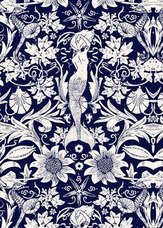 . #tail, #mermaid, blue - #white