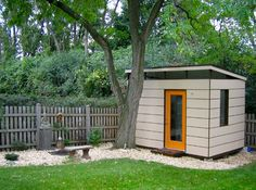 David van Alphens Modern Shed in architecture Category Painted shed example #garden