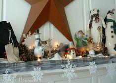 Winter Mantel with Snowmen