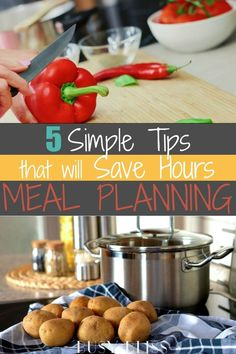 Save hours of time meal planning with these 5 easy tips. Use these tips each week to make meal planning simple and effective! Meal Planning Board, Weekly Menu Planning, Family Meal Planning, Family Meals, Cooking Tips, Cooking Recipes, Frugal Tips, Health Eating, Meal Planner
