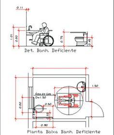 Projeto de Banheiro Especial para Cadeirantes / Deficientes Fisicos