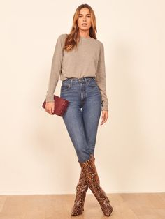 The New Rules For Wearing Tall Boots Over Skinny Jeans | The Mom Edit
