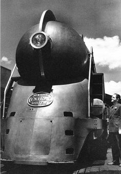 Henry Dreyfuss 1904-1972. An American industrial designer who opened his first product design office in 1929. His second design contract for the New York Central Railroad was the 1938 redesign of the locomotive and cars of the Twentieth Century Limited - their flagship passenger train. source