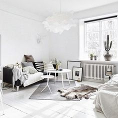 Gorgeous cozy and relaxing Scandinavian interior styled by @blackbirdstyle