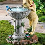 Playful Puppy Birdbath Garden Fountain