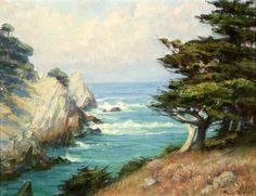 Point Lobos--Elizabeth Strong  1855-1941 World Of Color, American Artists, Beautiful World, Wonders Of The World, 19th Century, Cool Art, Strong, Gallery, Outdoor