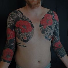 Gakkin Tattoo : Ink Inc Body Tattoos, Sleeve Tattoos, Tattoo Ink, Gakkin Tattoo, Body Painting, Alone Tattoo, Blackout Tattoo, Poppies Tattoo, Fresh Tattoo