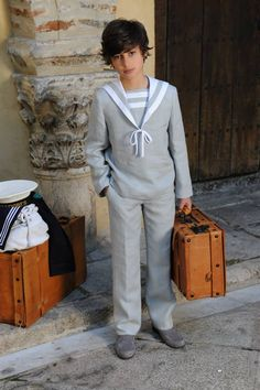 Traje Marinero Lino. Notajunto. Mutxamel-Alicante Boy Models, Art Model, Cute Guys, My Boys, Sailor, Normcore, Actors, Kids, Clothes