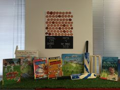 Promoting the new series The Kaboom Kid by David Warner and other cricket themed books.