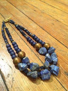 Lapis Lazuli Rock it Out Necklace