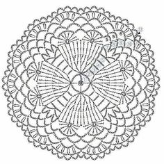 The scheme of knitting Christmas potholders - crochet snowflakes Crochet Mandala Pattern, Crochet Motifs, Crochet Circles, Crochet Diagram, Crochet Stitches Patterns, Crochet Round, Doily Patterns, Crochet Chart, Thread Crochet