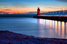 South Haven, MI...LOVE this town!!  A summer tradition in our family to camp, eat, shop, blueberry pick and enjoy Lake Michigan!