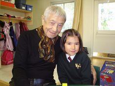 Doc visits students