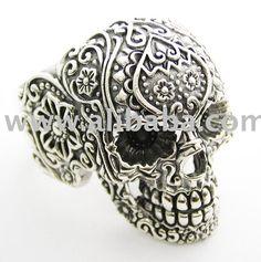 925 de plata de ley anillo de calavera - spanish.alibaba.com