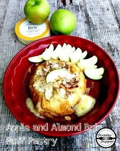 Already to go... just needs to be popped in the oven .... Almond and Apple Brie Puff Pastry