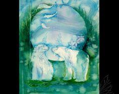 Polar Bear Spirits ~ Fine Art Print from original artwork by Roberta Orpwood