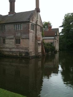 Reflections at Baddesley Clinton of the moated manor. Via @sarahwhiuk