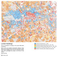 """design-by-numbrs: """" London Buildings by Tom Stove See also All Streets by Ben Fry """" Stove, Maps, Buildings, London, Design, Stove Fireplace, Range, Hearth, Map"""