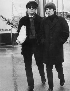 John Lennon and George Harrison      ........ You are misssed and loved.