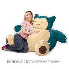 Pokémon Snorlax Bean Bag Chair | ThinkGeek