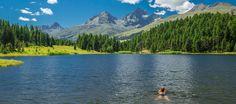 Sankt Moritz lakes Lej da Staz, Lej Nair and Lej Marsch