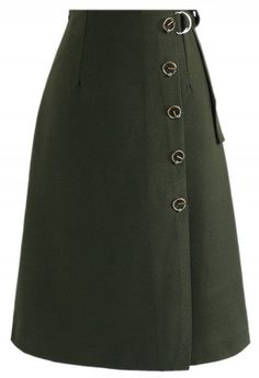 Demure Stamp Flap Skirt in Army Green - Юбка - НИЖНЯЯ ОДЕЖДА - Retro, Indie and Unique Fashion Unique Fashion, Womens Fashion, Cool Style, My Style, Muslim Fashion, Skirt Outfits, A Line Skirts, Midi Skirt, Fashion Dresses