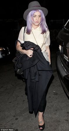 If my work would allow it I would totally have some violet in my hair. Love this.