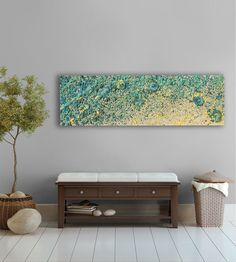 Large abstract Painting, beach and water Abstract artwork, Modern abstract wall…