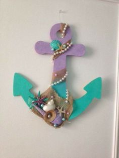 Cute little anchor for your mermaid party or your bedroom decor ! Cute little anchor for your mermaid party or your bedroom decor ! Mermaid Crafts, Mermaid Diy, Baby Mermaid, Little Mermaid Bedroom, Mermaid Bathroom Decor, Diy Unicorn, Mermaid Theme Birthday, Mermaid Nursery Theme, Mermaid Baby Showers