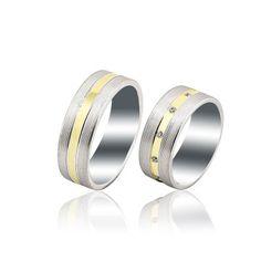 Buse Jewellery - 14K White Gold Fantasy Wedding Band Ring