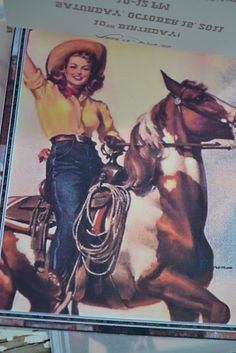 vintage cowgirl party ideas and where she got everything- mostly Michaels and Hobby Lobby