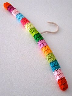 crochet coat hanger cover