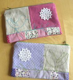 https://flic.kr/p/dNt9d3 | linen/doily pouches