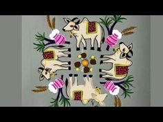 for more creative pongal rangolies please click below link. Indian Rangoli Designs, Rangoli Designs Latest, Simple Rangoli Designs Images, Rangoli Designs With Dots, Rangoli With Dots, Traditional Rangoli Design, Rangoli Designs For Competition, Alpona Design, Festival Rangoli
