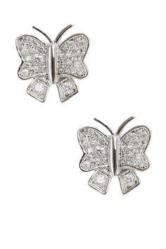 Pave Butterfly Earrings
