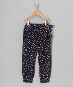 Take a look at this Blue Gem Ruffle Pants - Toddler & Girls by PRSPR on #zulily today!