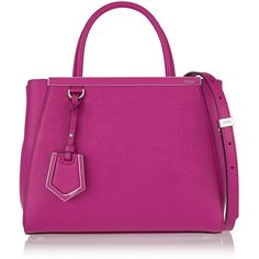 Fendi 2Jours small textured-leather shopper (€1.715) ❤ liked on Polyvore featuring bags, handbags, tote bags, pink, pink shopping bag, top handle handbags, shopping tote, pink handbags and shopping bag