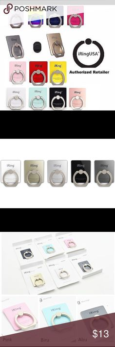 Authentic iRing premium Kickstand Grip Chanel Official auxxx iRing in stock! Big chain retailers like frys qvc amaZon selling for $20 to $25 each! Get them here now holiday price $12.99 from an authentic iRing distributor. All colors available first come first serve! iring Accessories Laptop Cases