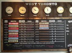 Back Bar, Menu Boards, Tap Room, Brewery, Ale, Toronto, Blackbirds, Board Ideas, Control