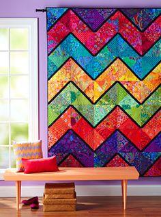 Beautiful quilt, love the Kaffe Fassett fabric. Material Girls Quilt Shoppe