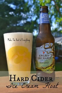 Sounds like a great idea, wish I had one right now: Hard Cider Ice Cream Float by Make The Best Of Everything and 7 GREAT recipes for Hard Cider