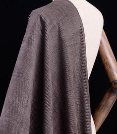 100% silk corduroy fabric   grey brown 31 75mm