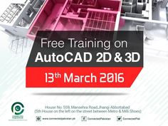 Free Training on AutoCAD 2D 3D in Abottabad  http://allevents.pk/events/Free-Training-on-AutoCAD-2D-3D-in-Abottabad  #Training #AutoCad #AbottabadEvent