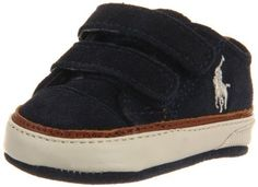 """Ralph Lauren Layette Clayton Low EZ Sneaker (Infant/Toddler) Ralph Lauren Layette. $19.99. Material: Regular Suede Upper and Leather Outsole. Measurements: 0.25"""" heel. Color: Navy. This shoes / sandals / boots style name or model number is Clayton Low EZ. Suede sole. 100% Suede. Width: M"""