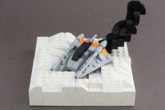 LEGO StarWars Micro AirSpeeder Crash