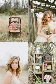 Rustic + Whimsical Fall Wedding Inspiration - Belle The Magazine