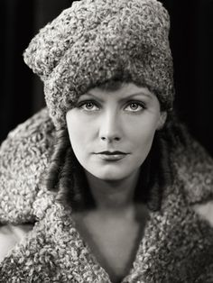 A Portrait of Greta Garbo in 1930, by George Hurrell #celebrities