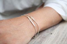 Sterling silver bar bracelet Everyday bracelet Minimalist