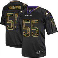 #55 Terrell Suggs Baltimore Ravens Elite Jersey